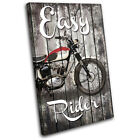 Shabby Chic Motorbike Vintage SINGLE CANVAS WALL ART Picture Print