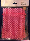 "ORGANZA polka dot drawstring pouch 6"" x 6"" package of 6 pouches NEW"