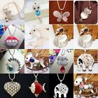 Classic Cute Animal Crystal Animal Cross Pendant Necklace Long Sweater Chain