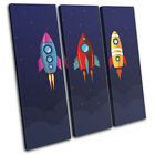 pictures for cartoons - Space Cartoon Modern For Kids Room TREBLE CANVAS WALL ART Picture Print