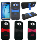 For Samsung Galaxy J7 Rugged Arch Wave Stand Hybrid Cover Case Phone Protector