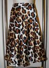 JONES WEAR Skirt 12P Bold Leopard Print Silky Full & Swing-y