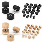 HOT Organic Wood 16g Steel Fake Cheater Ear Plugs Barbell Studs Earrings