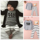 Cute Newborn 6 9 12 18 24 Months Clothes Baby Infant Girl Boy t-Shirt Outfit Set