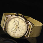 New Trendy Women's Gold Stainless Steel Alloy Analog Hours Sport Wrist Watch