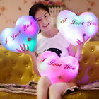 Throw Pillow Valentine Music Glowing LED Cushion Light Up Heart Romantic Gift