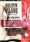 Golden Island Korean BBQ Barbecue Pork Jerky Fire Grilled All Natural No Nitrite