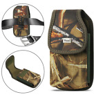 REIKO Camouflage Rugged Canvas Belt Clip Case Pouch for Cell Phones
