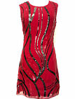 BNWT Gatsby RED Dress Tunic Top Evening 1920's Shift Dress Size 8 to 20