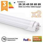 2 x BRITE SOURCE T8 T12 LED TUBE FLUORESCENT REPLACEMENT 2ft 3ft 4ft 5ft 6ft 8ft