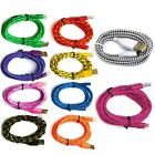3/6/10ft Braided Lightning Sync Data Cable Usb Charger For Iphone 5s 6 6s 7 Plus