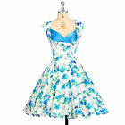 SUMMER 50s 60s 70s Vintage Retro Style Housewife Prom Ball Party Wedding Dress