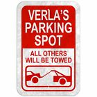 Parking Spot All Others Will Be Towed 8* x 12* Plastic Sign Names Female Va-Ve
