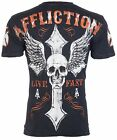 AFFLICTION Mens T-Shirt LIVE FAST American Custom Motorcycle Biker UFC Jeans $58