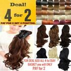 Jaw ponytail big wavy clip in hair extensions Claw piece good quality Synthetic