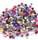 Wholesale Lots 100pcs Tongue Lip Belly Navel Eyebrow Rings Body Piercing Jewelry