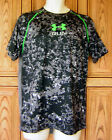 Under Armour Men's Run Logo Mileage S/S Black Gray Camo T Shirt 1266019 040
