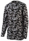 Augusta Sportswear Boys New Digital Camo Polyester Long Sleeve T-Shirt. 2789