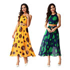 Women Summer Boho Long Maxi Dress Sleeveless Chiffon Evening Party Beach Dress