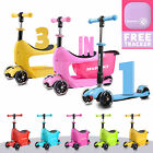 Kids Tri Folding Scooter Push 3 Wheel With Storage Box And Carry Strap