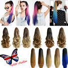 "UK Seller 22"" Women Claw On Dip Dye Ombre Long Ponytail Clip in Hair Extensions"
