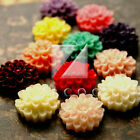 4/12pcs Lucite Resin Cabochons Flatbacks Flower DIY Embellishments 17x17x8mm