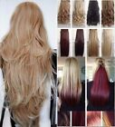 Hair Extensions Half Full Head Lush Blonde Clip In Feel as Human Curly Straight
