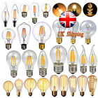 Dimmable E27 E14 2W/4W/6W/8W/40W LED Retro Edison Filament Light Lamp Xmas Bulb
