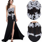 Maxi Strapless Soft Tulle Chiffon Gown Evening Prom Formal Party Dresses 8 Size