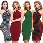 Vintage Swing 50s 60s Pinup Bodycon Slim Cocktail Party Prom Dress
