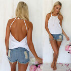 Sexy Women Vest Top Sleeveless Shirt Blouse Summer Casual Ladies Loose Tops 6-16