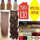 Hair Extensions UK seller One piece 3/4 Full Head Clip In on feel as human hair