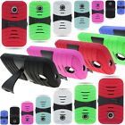 For Motorola Moto E - Protective Shock Proof Kickstand Phone Cover Case