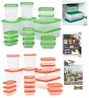 IKEA PRUTA Set 17 Pcs High Quality Plastic Transparent Food Storage Containers