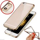 Best Thin Clear Crystal Rubber Plating TPU Soft Case Cover For iPhone SE 6s Plus