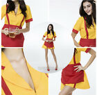 2 Broke Girls Waitress Womens Costume Cosplay Fancy Dress TV Series Uniform NEW