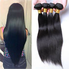 4 Bundles Brazilian Virgin Straight Human Hair Extensions 200g #1BBlack UK STOCK