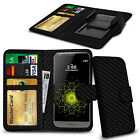 Clip On PU Leather Flip Wallet Book Case Cover For LG K10
