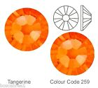 Swarovski Crystal Tangerine Silver foiled flat back hot fix or glue on crystals