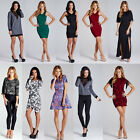 Ladies Party Dress Womens Fashion Bodycon Evening Wear Cocktail Lace Maxi Mini