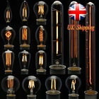 UK Stock E27 E14 2/4/6/8/40W LED Retro Edison Filament Candle Globe Light Bulb