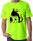 BANKSY TOXIC RAT NEON T-SHIRT - Choice Of Colours - Sizes S-XXL FREE P&P