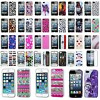Painted Various Pattern Phone Hard Back Skin Case Cover+Guard for iPhone 5 5S