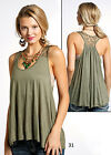 Panhandle Slim Women's Olive Green Swing Lace Tank J7-6813G