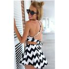 Women's Fashion Backless Halterneck Tops & High Waist Pants Shorts Suits New S