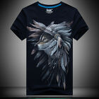 2016 new 3 D printing Feather Wolf - Men's short sleeve cotton T-shirt