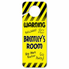 Do Not Disturb Plastic Door Knob Hanger Sign Male Names Br-By Yellow