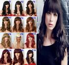 "Black Red Brown 19"" Frame-face Wig Layered FULL WOMEN LADIES FASHION HAIR WIG"