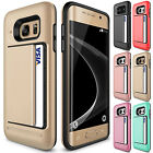 Luxury Card Pocket ShockProof Hybrid Wallet Case Fr Galaxy S7S6S5S4Edge+Note 345