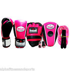 Morgan Ladies Pink Boxing Gloves Focus Punch Pads Jump Rope Key ANBF APPROVED